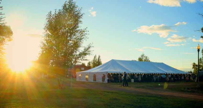 wedding tent rental wyoming