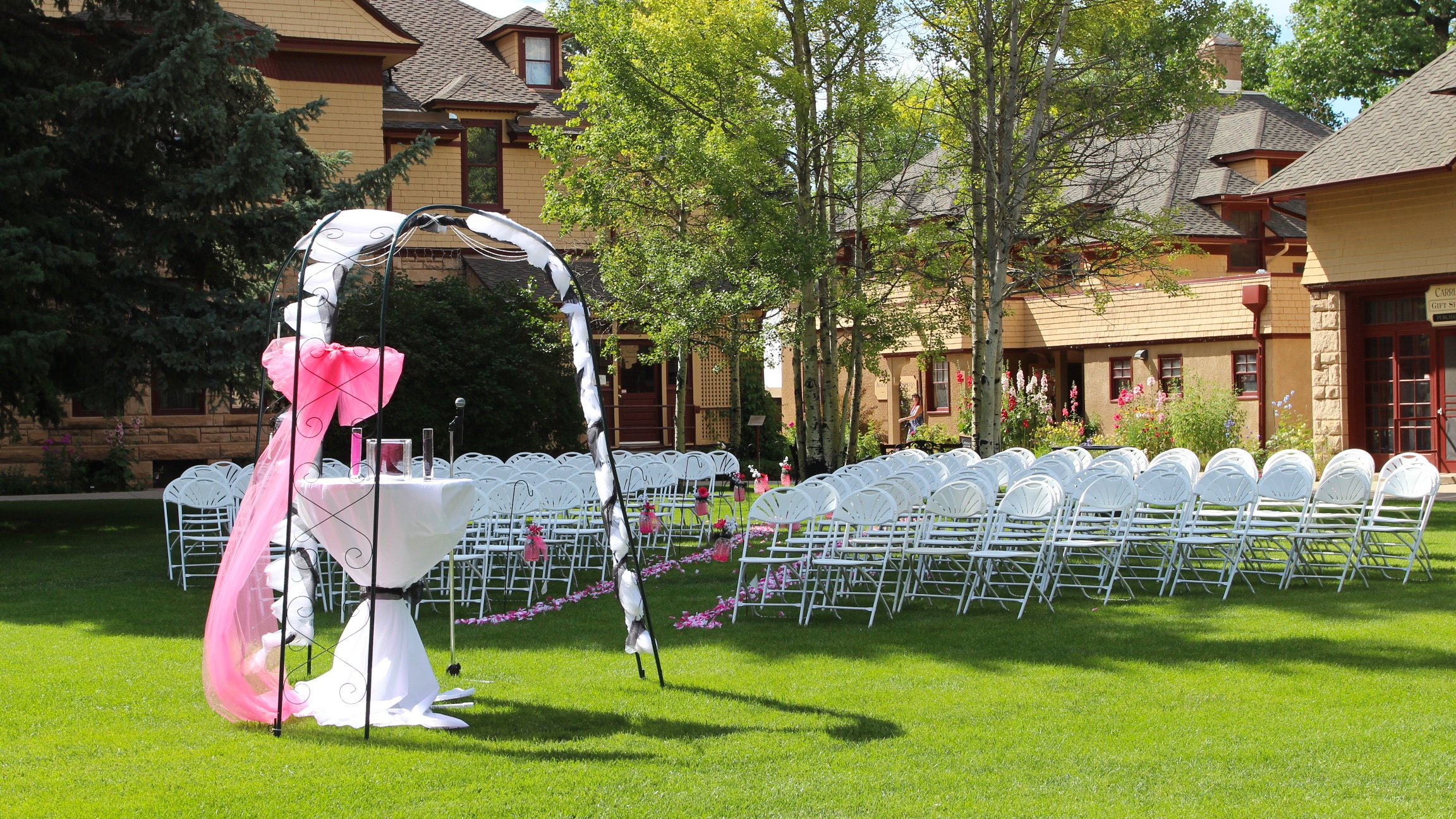Wedding ceremony chair - Invinson Mansion Ceremony Chairs