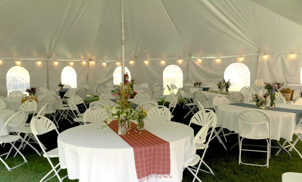 may 2016 wedding tent tables chairs lighting