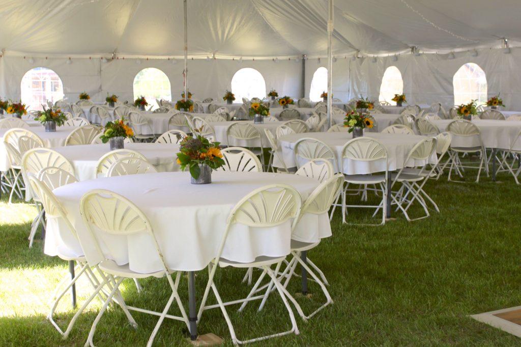 Reception Tent Interior Wyoming
